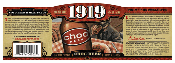 Choc Beer 1919 Wheat Ale