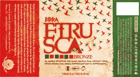 Dogfish Head Birra Etrusca Bronze Ale