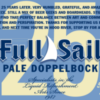 Full Sail 25 Pale Doppelbock Label