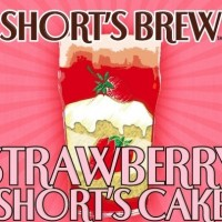 Short's Strawberry Short's Cake Golden Ale label