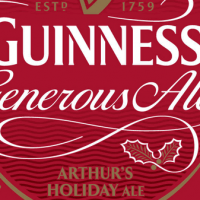 guinness generous ale label