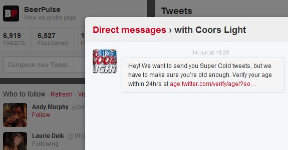twitter coors light