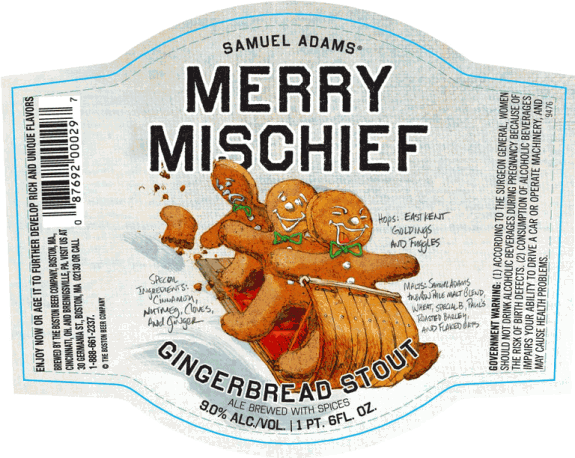 samuel adams merry mischief gingerbread stout label