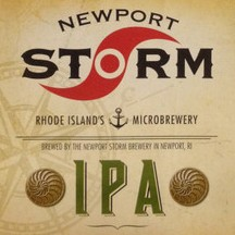 newport storm india point ale label