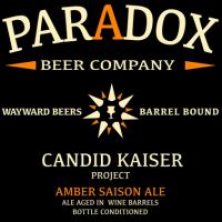 Paradox Candid Kaiser Wine Barrel-aged Amber Saison