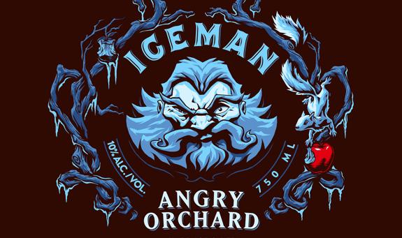 Angry Orchard Iceman logo