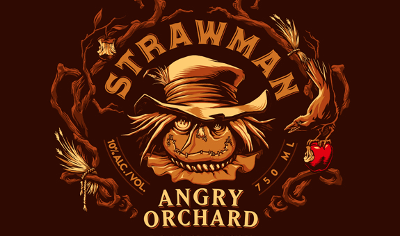 Angry Orchard Strawman logo