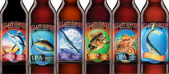Ballast Point Brewing bottles