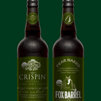 Crispin Bare Naked and Fox Barrel Pear Naked Cider bottles