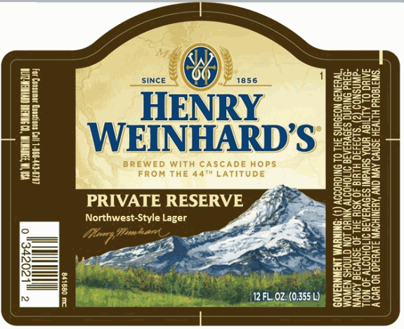 Henry Weinhards Private Reserve Northwest Lager