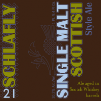 Schlafly Single Malt Whiskey Barrel-aged Scottish Ale