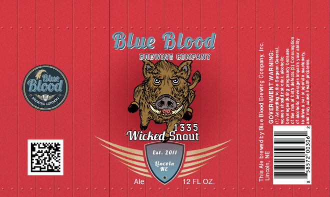 Blue Blood 1335 Wicked Snout Ale | BeerPulse