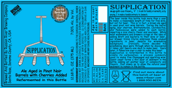 russian river supplication label