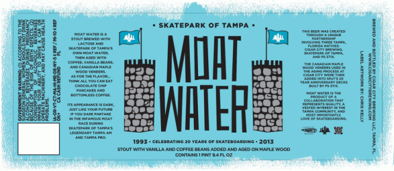 Cigar City Moat Water label