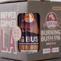 Golden Road Burning Bush IPA can and 4pk