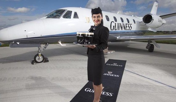 Guinness airplane