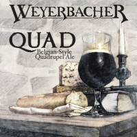 weyerbacher quad beer label