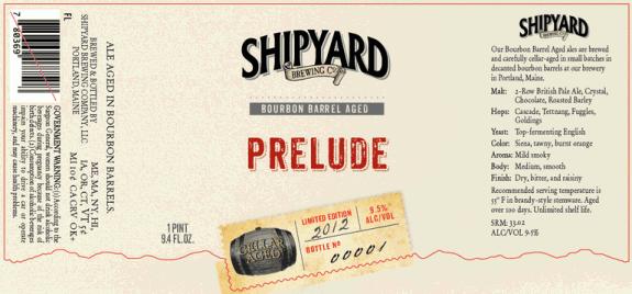 Shipyard Prelude Bourbon Barrel-aged Prelude Ale