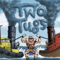 Two Tugs label Half Acre and Perennial