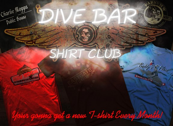 dive bar t shirt banner