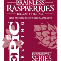Epic Brainless Raspberries label