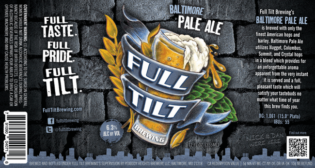 Full Tilt Baltimore Pale Ale label