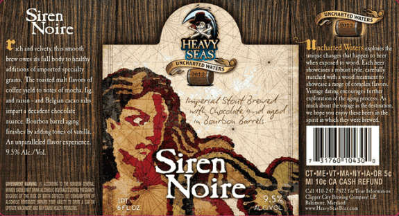 Heavy Seas Siren Noire Bourbon Barrel Aged Imperial Stout