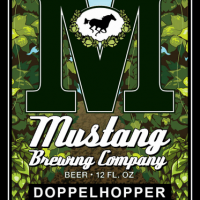 Mustang DoppelHopper Bottle Label