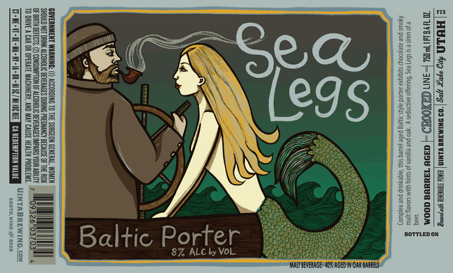 Uinta Sea Legs Baltic Porter label