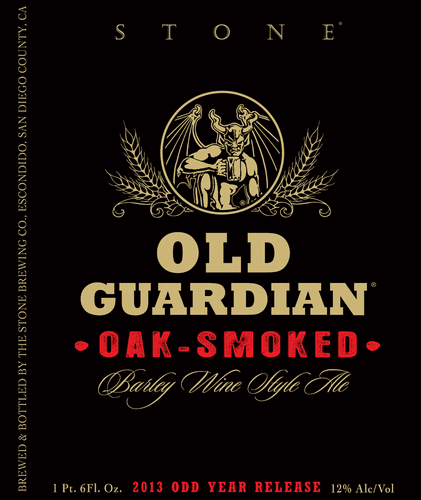 Stone Old Guardian Oak Smoked Barley Wine