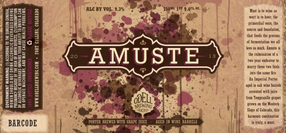 Odell Amuste Wine Barrel Aged Imperial Porter