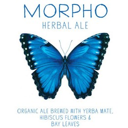 mateveza morpho herbal ale label