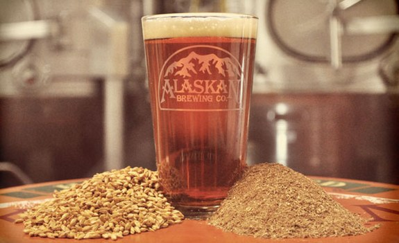 Alaskan Brewing spent grain-powered steam boiler