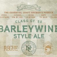 Class of '88 Barleywine beer label Deschutes Rogue North Coast
