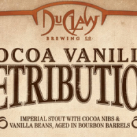 DuClaw Cocoa Vanilla Retribution Bourbon Barrel Aged Imperial Stout
