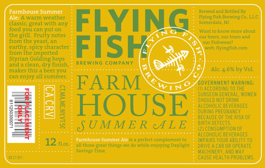 Flying Fish Farmhouse Summer Ale returns for 17th season with new look