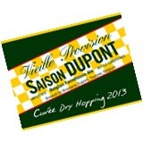 Saison Dupont Cuvee Dry Hopping 2013 label