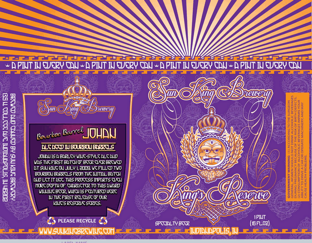 Sun King King's Reserve Bourbon Barrel Aged Johan The Barleywine
