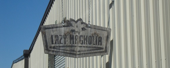 lazy magnolia sign building