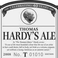 thomas hardys ale label