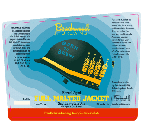 Beachwood Barrel-Aged Full Malted Jacket label