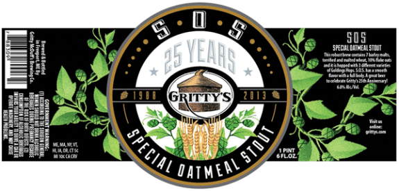 Gritty's S.O.S. Special Oatmeal Stout