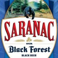 Saranac Black Forest Black Beer label