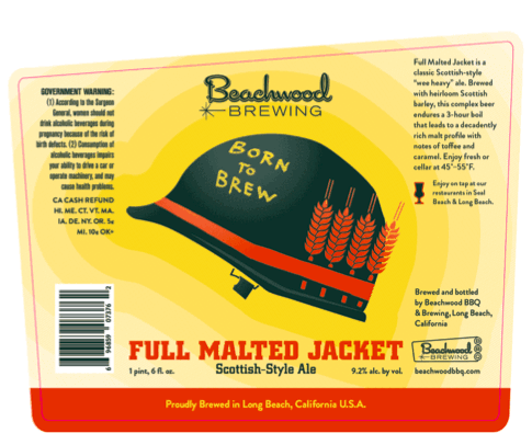 beachwood full malted jacket label