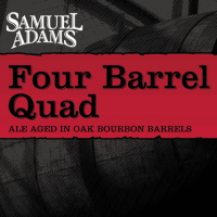 Samuel Adams Four Barrel Quad front