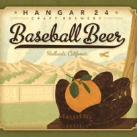 Hangar 24 Baseball Beer label