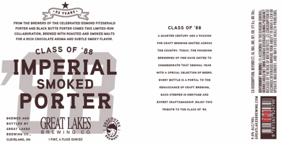 Great Lakes Class of '88 Imperial Smoked Porter