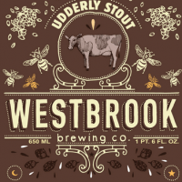 westbrook udderly milk stout label