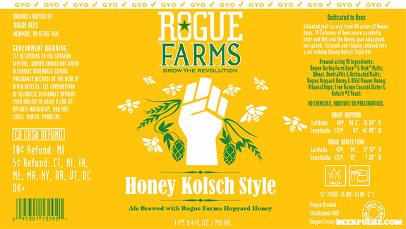 rogue farms honey kolsch label