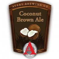 Avery Coconut Brown Ale label